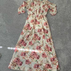 Maxi Dress forever 21 pink floral dress